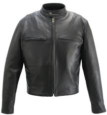 men s cafe racer black leather