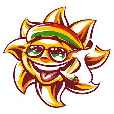 vector rasta sun with spliff