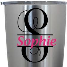 Split Vine Monogram Decal Monogram Decal Custom Name Decal Yeti Decal Laptop Decal Car Decal 3 Inches 15 Colors Amazon In Car Motorbike