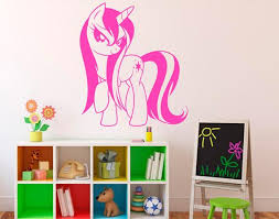 My Little Pony Wall Vinyl Decal Cartoon Pony Wall Sticker Wall Etsy