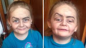 old person makeup on child saubhaya