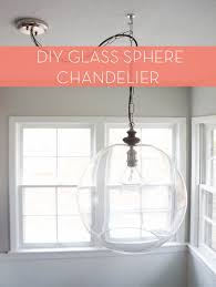 diy sphere chandelier from a glass bowl