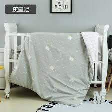 filling grey crown newborn baby bedding