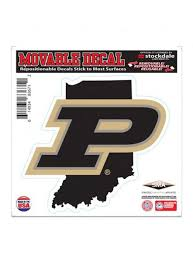 Purdue 6 X 6 State Decal Purdue Car Accessories Purdue Team Store