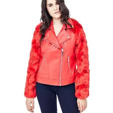 giacca maniche pelliccia sintetica on