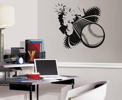 Ik784 Wall Decal Sticker Baseball American Football Players Sport Kids Stickersforlife