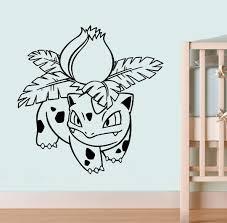 Amazon Com 002 Ivysaur Vinyl Poster Pokemon Go Wall Sticker Pokemon Wall Vinyl Decal Home Interior Decor Nursery Image 2 Kitchen Dining