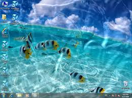 animated wallpaper watery desktop 3d