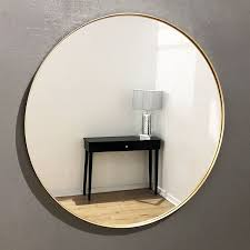 small round gold frame modern mirror 40