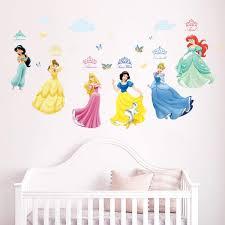 Amazon Com Runtoo Princess Wall Decals For Girls Kids Room Wall Stickers Baby Nursery Bedroom Wall Decor Home Kitchen