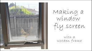 window fly screens with a wooden frame