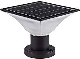 Amazon Com Solar Post Cap Lights Outdoor Dusk To Dawn Auto On Off Solar Powered Post Lights Fits Most Posts 1 Pack Home Improvement
