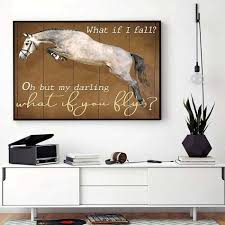Horse Girl My Darling What If You Fly Horizontal Canvas Bassetshirt