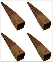 Garden Mile 4x Heavy Duty Fence Post Holder 750mm X 75mm Spike Support Rust Resistant Metal Stakes 3 4 Amazon Co Uk Garden Outdoors