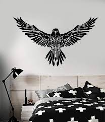 Vinyl Wall Decal Black Raven Wings Gothick Style Stickers Unique Gift Wallstickers4you