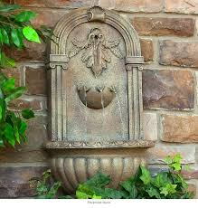 wall fountain water fountains outdoor