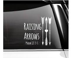 Amazon Com Raising Arrows Psalm Car Decal Tumbler Decal Handmade