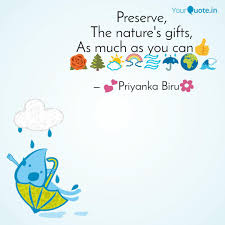 preserve the nature s g quotes writings by priyanka s