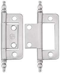 non mortise hinges with nickel finish