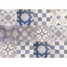 Brewster Blue Vintage Tiles Kitchen Panel Wall Decal Cr 67262 The Home Depot