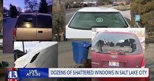 vandals smash car windows in salt lake