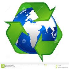 Earth Globe Recycling Symbol Stock Vector - Illustration of modern, clip:  21452693