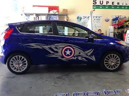 Super Hero Captain America Car Decals In Orange County