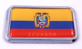 Amazon Com Ecuador Flag Rectanguglar Chrome Emblem Car Decal Sticker 3 X 1 75 Automotive