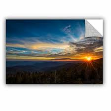 Ebern Designs Sunrise Over The Mountains Removable Wall Decal Wayfair
