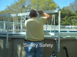 Premium Guard Above Ground Pool Fence Installing Upper Lower Spans Youtube