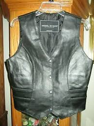vest sz l genuine leather worn