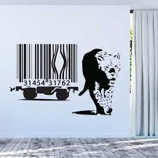Banksy Barcode Leopard Vinyl Wall Art Decal