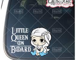 Trucks Game Of Thrones Inspired Baby Daenerys Little Khaleesi On Board Sign Vinyl Decal Sticker For