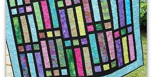 this stained glass quilt is a breeze to
