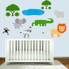 Zoomie Kids Safari Nursery Animals Jungle Stickers For Kids Playroom Wall Decal Wayfair