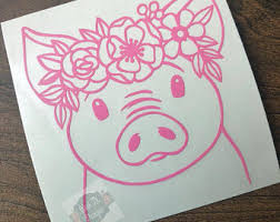 Pig Decal Etsy