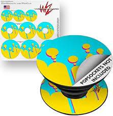 Amazon Com Decal Style Vinyl Skin Wrap 3 Pack For Popsockets Drip Yellow Teal Pink Popsocket Not Included By Wraptorskinz Computers Accessories