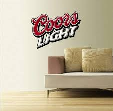 Amazon Com Coors Light Beer Wall Decal Sticker 25 X 19 Home Kitchen