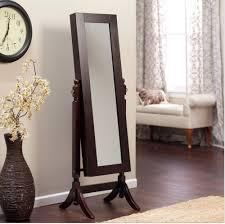 tilting mirror in espresso brown