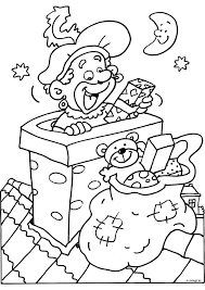 Zwarte Piet In De Schoorsteen Met Afbeeldingen Kleurplaten