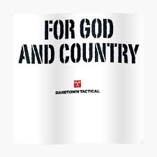 For God And Country Sticker By Dtkindling Redbubble
