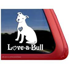 Love A Bull High Quality Vinyl Pitbull Pit Bull Dog Window Decal Walmart Com Walmart Com