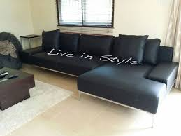 l shaped leather sofa leather sofa