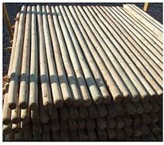 F G Supplies 10 X 1 65m 5 5ft Tall X 40mm Diam Round Wooden Treated Fence Posts Or Stakes With A Pointed End Amazon Co Uk Garden Outdoors