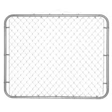 Yardgard 10 Ft W X 4 Ft H Metal Steel Drive Through Chain Link Fence Gate 2 Panels 328402a The Home Dep Chain Link Fence Gate Chain Link Fence Fence Gate