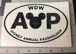 Walt Disney World Annual Passholder Vinyl Decal For Cars Windows Walls For Sale Online