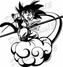 Dragon Ball Z Kid Goku Dbz Nimbus Cloud Wall Car Window Vinyl Sticker Decal Ebay