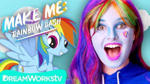 rainbow dash makeup tutorial my little
