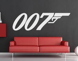 James Bond 007 Logo Daniel Craig Skyfall Wall Art Sticker Decal Silhouette Mural Ebay Sticker Wall Art Wellness Design James Bond Party