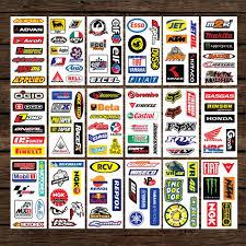 Assorted Motor Bike Decal Sticker Set 1 9 Etsy